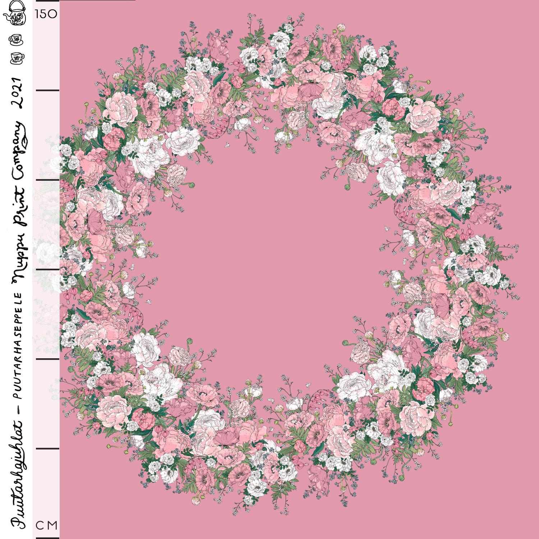 Puutarhaseppele luomutrikoo, roosa