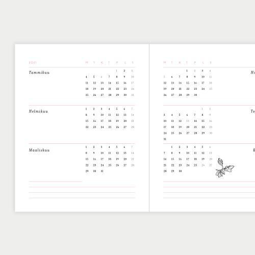 Kesäsydämet kalenteri 2021, pieni