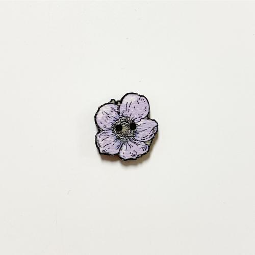 Syysvuokko nappi keskikokoinen, lila