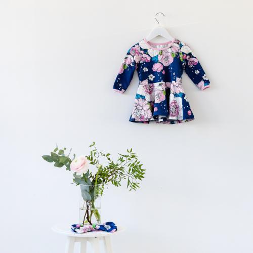 Hippiäinen-mekko lapselle, Hippiäinen 92 cm