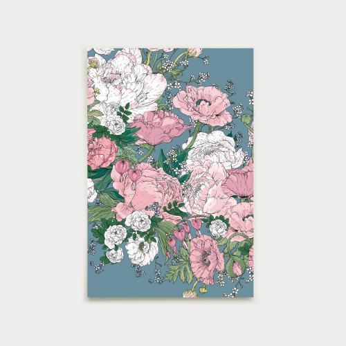 Puutarhaseppele postikortti, siniroosa