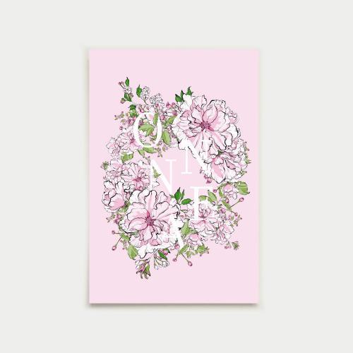 Kirsikkaseppele postikortti, onnea