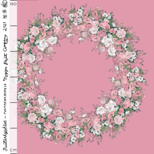 Puutarhaseppele organic jersey, rosa