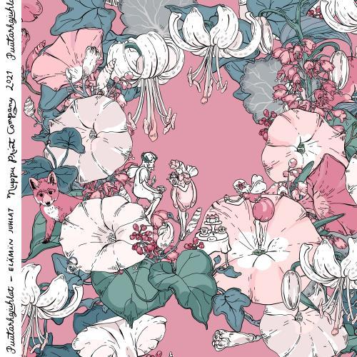 Elämän juhlat luomutrikoo, roosa