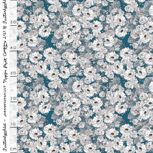 Juhannustanssit organic french terry, evening blue