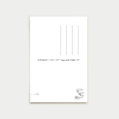 Elämän juhlat postikortti, illansininen