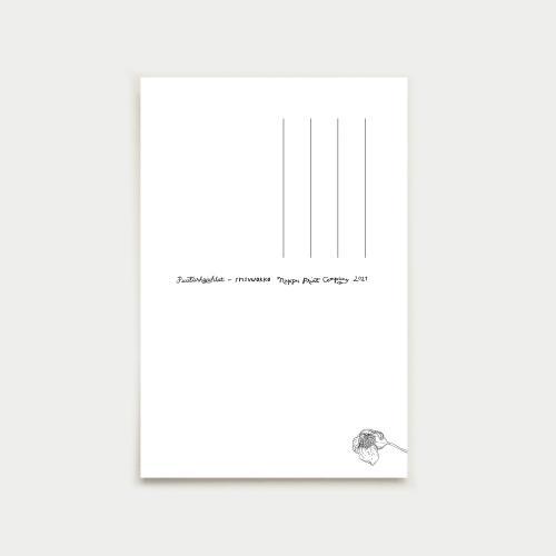 Syysvuokko postikortti, laasti