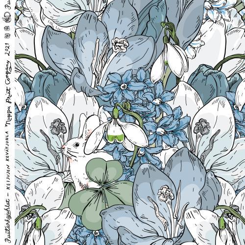Keijujen kevätjuhla ohut puuvillasatiini, huurre