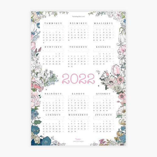 Puutarhajuhlien vuosi -kalenterijuliste 2022