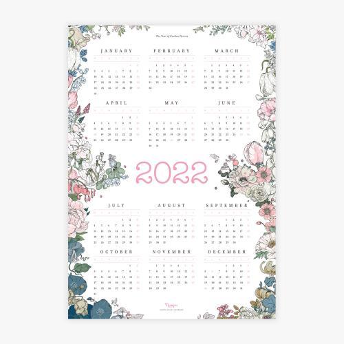 Year of Garden Parties -kalenterijuliste 2022