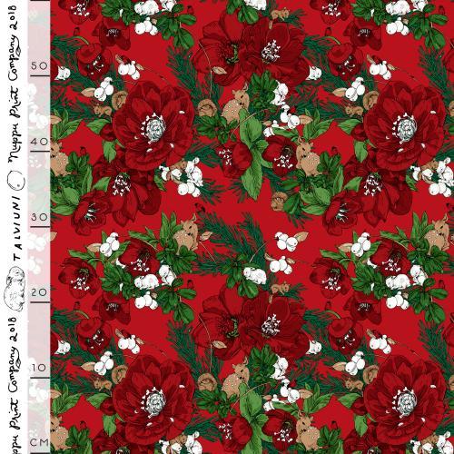 Talviuni thin cotton, red