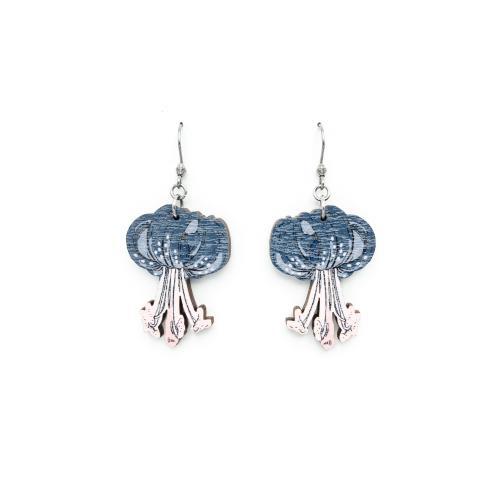 Varjolilja korvakorut, sininen