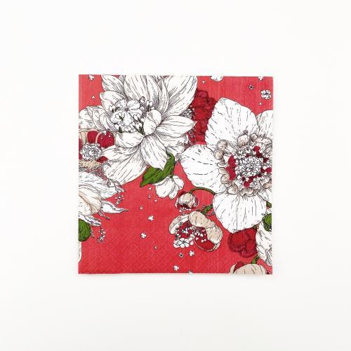 Sydäntalvi lautasliina 33 cm, punainen