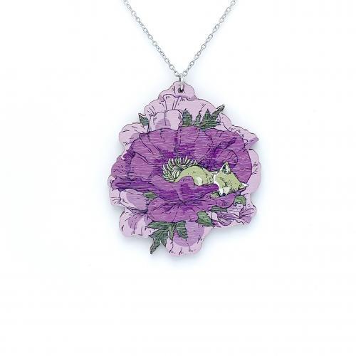 Unikko riipus, violetti