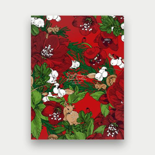 Talviuni notebook big, red