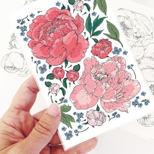 Salainen puutarha -tatuointisetti