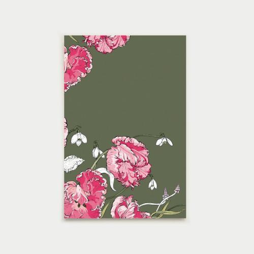 Kevään kurkotus postikortti, camo