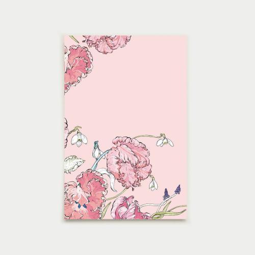 Kevään kurkotus postikortti, pastelli