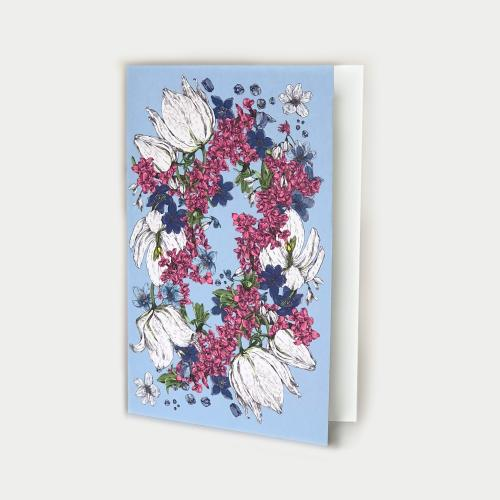 Kevätlaulu kortti avattava