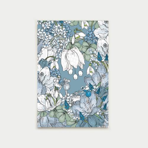 Keijujen kevätjuhla postikortti, huurre