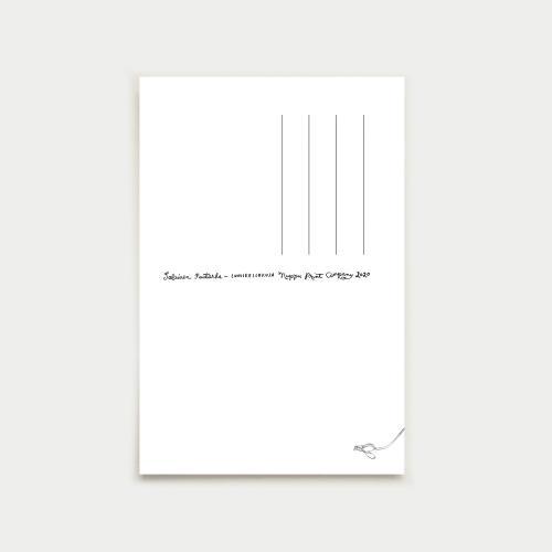 Lumikellokuja postikortti, camo