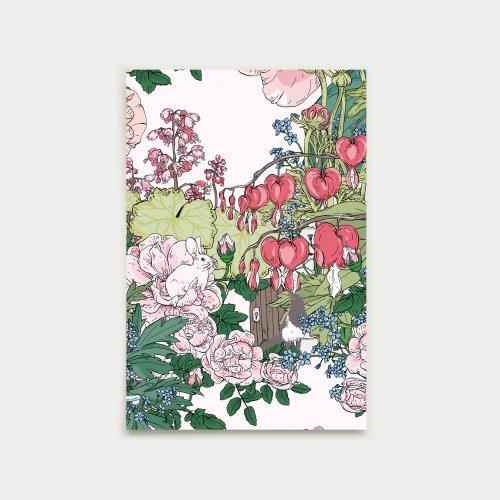 Puutarhan portti postikortti, nude