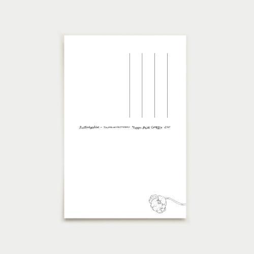Tulppaanifestivaali vykort, blue-grey