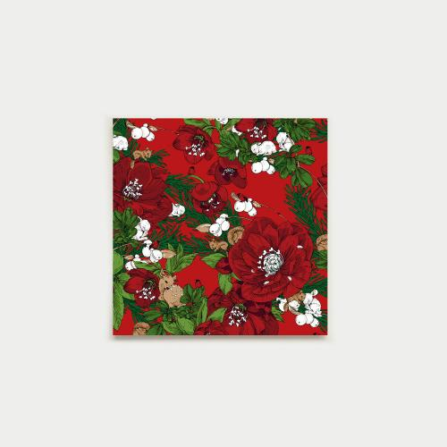 Talviuni square card, red