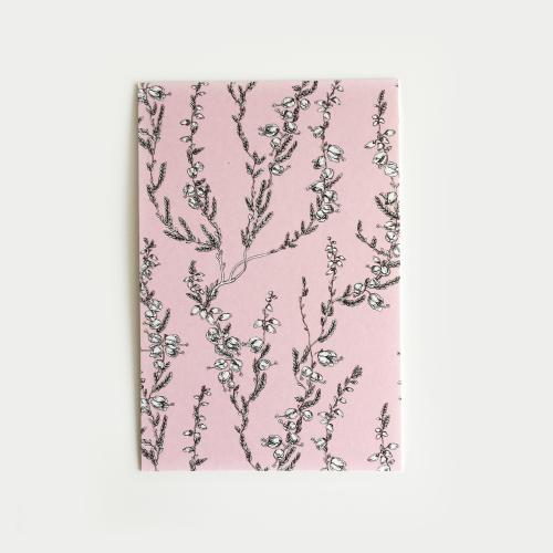 Kanerva postikortti, vaaleanpunainen