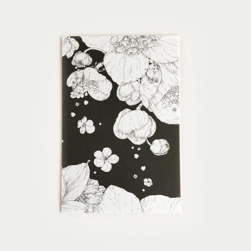 Sydäntalvi postikortti, mustavalkoinen