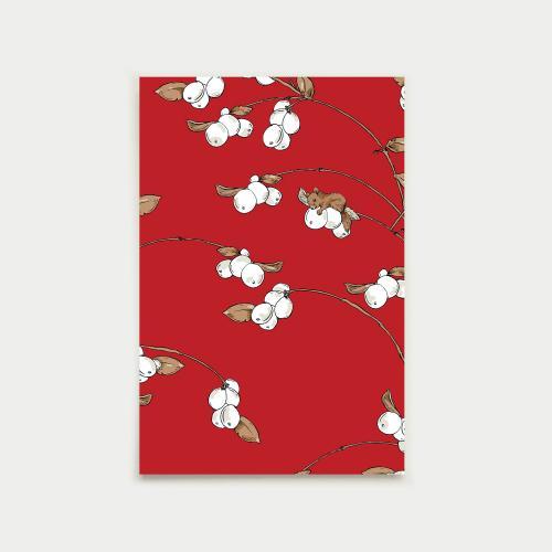 Lumimarja postikortti, punainen