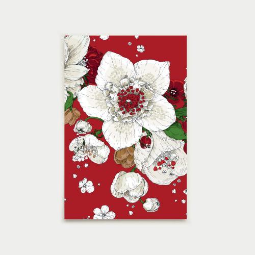 Sydäntalvi postikortti, punainen