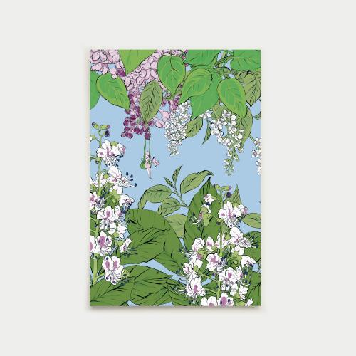 Vapaapäivä postikortti, vaaleansininen