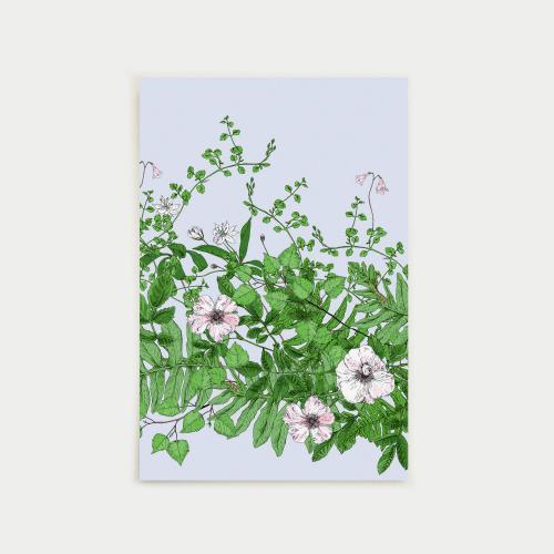 Metsäseppele postikortti, vaaleansininen