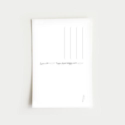 Syysmuutto postikortti, musta