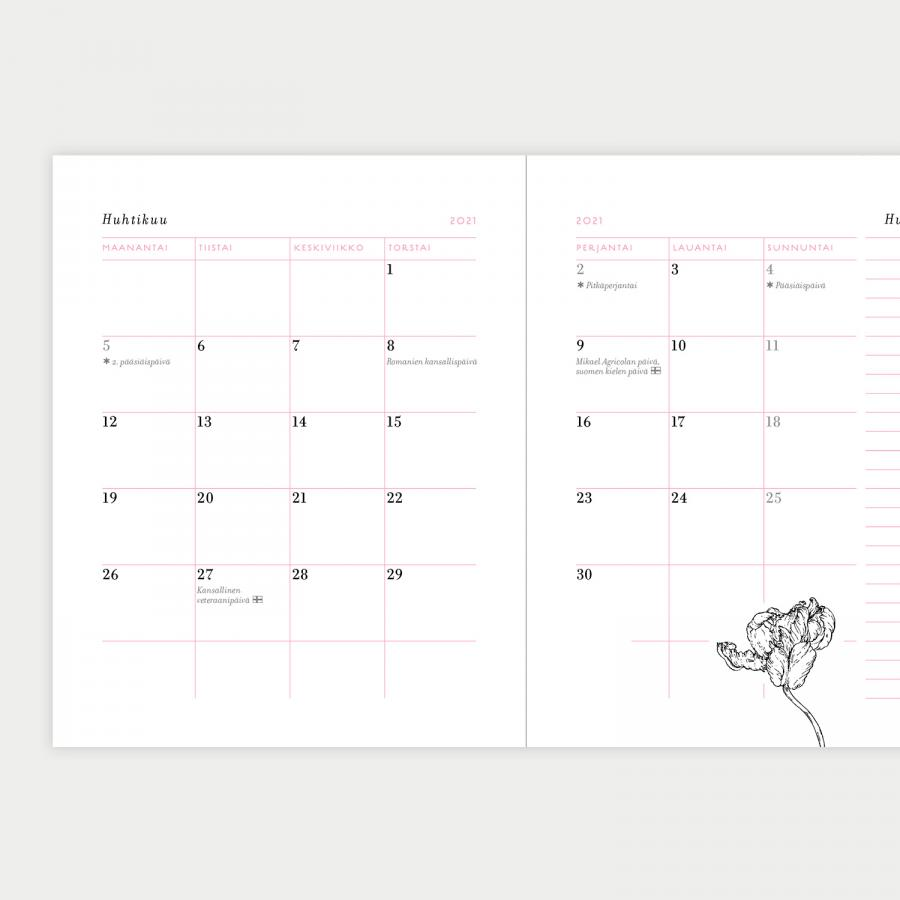 Pionipilvi kalenteri 2021, pieni