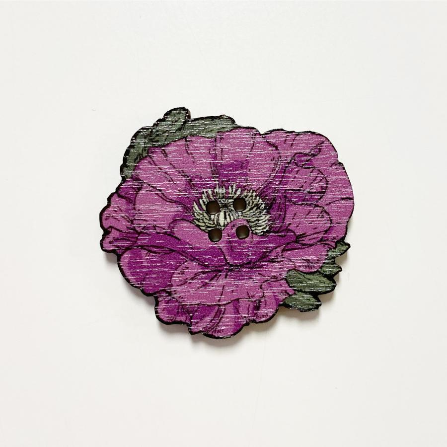 Unikko nappi iso, violetti