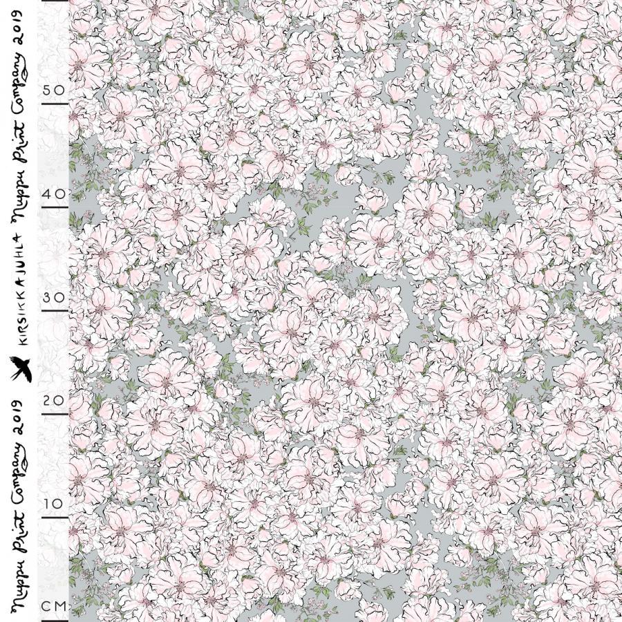 Kirsikkajuhla tencelsatiini, helmenharmaa
