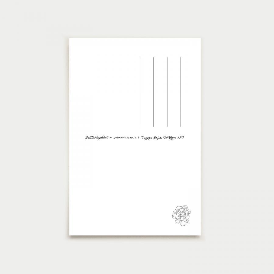 Juhannustanssit postikortti, smaragdinvihreä