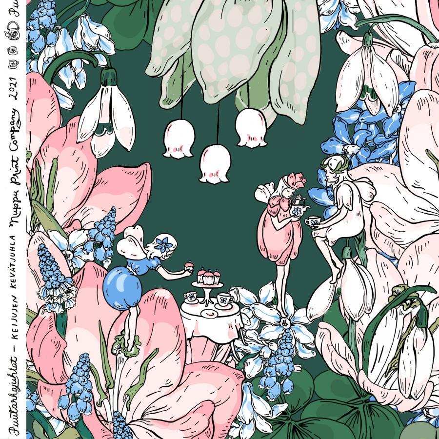 Keijujen kevätjuhla, luomutrikoo, lempeä vihreä