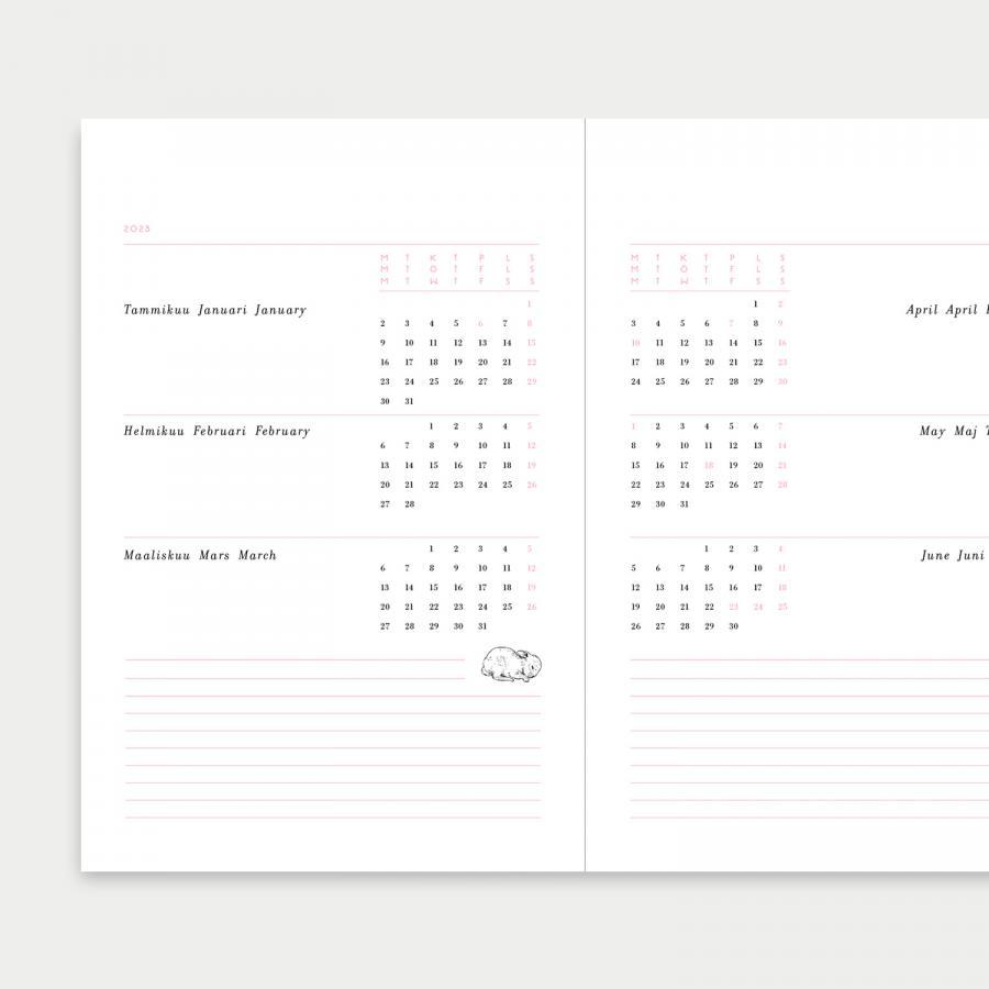 Syysvuokko kalenteri 2022, iso