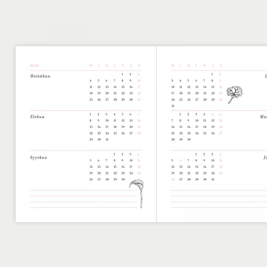 Syysvuokko kalenteri 2022, pieni