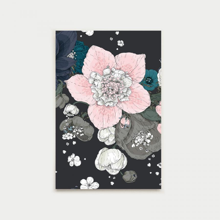 Sydäntalvi postikortti, multa
