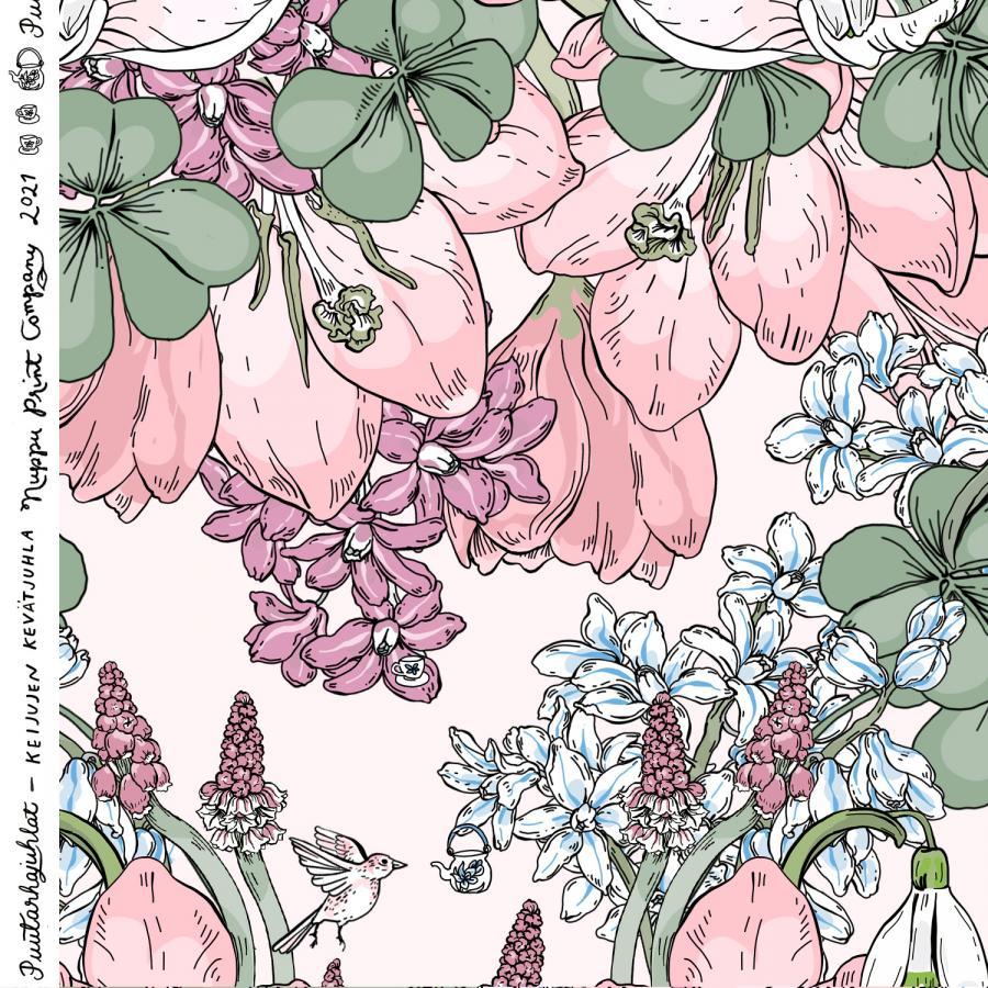 Keijujen kevätjuhla ohut puuvillasatiini, nude