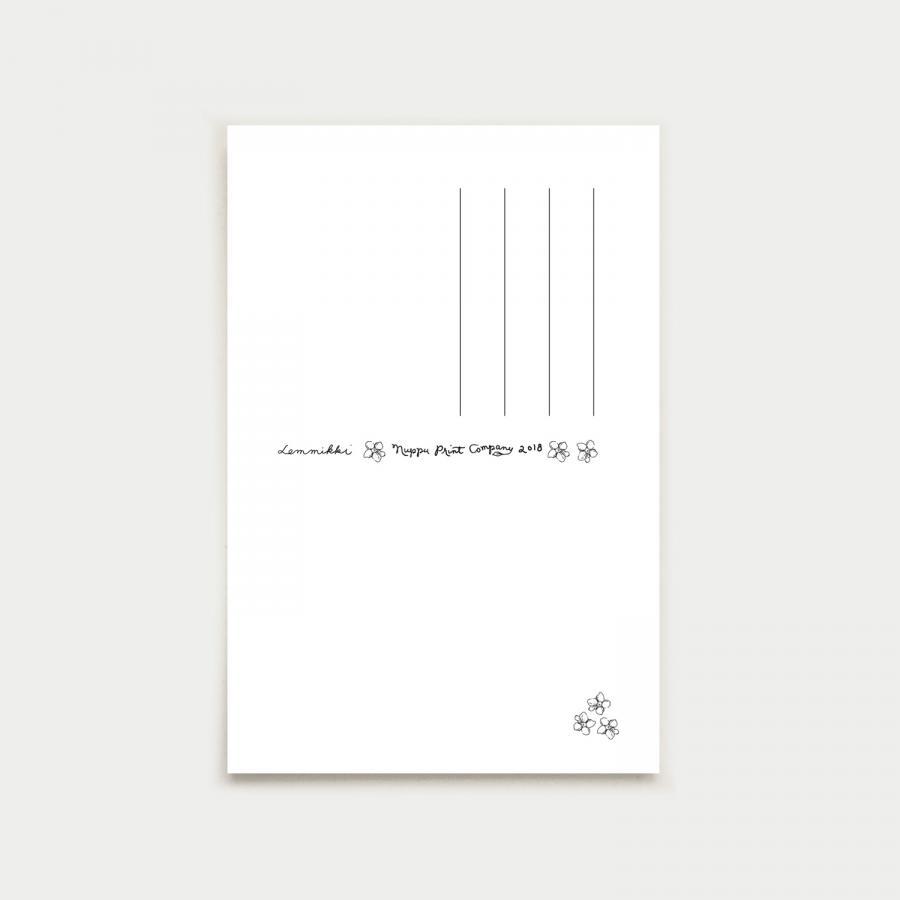 Lemmikki postikortti, vaaleansininen