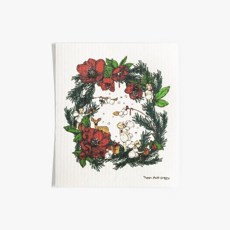 Joulusatu tiskirätti, punainen