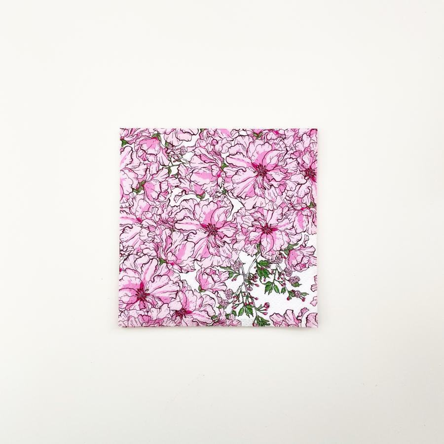 Kirsikkajuhla kahviliina 24 cm, vaaleanpunainen
