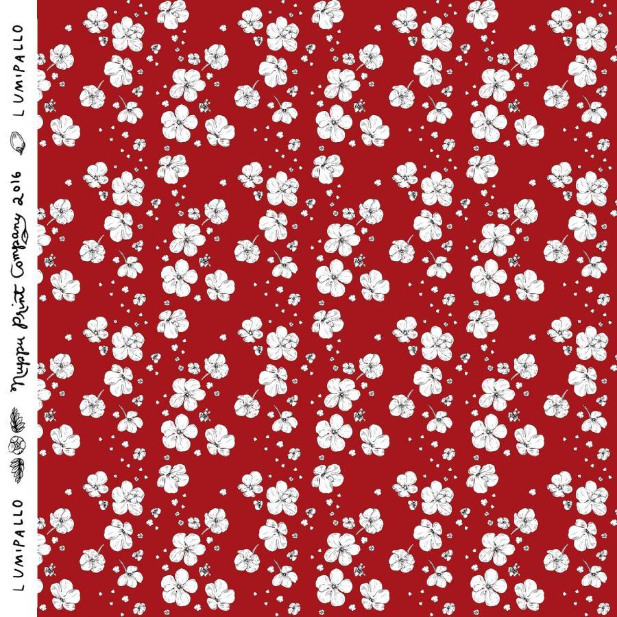 Lumipallo luomutrikoo, punainen