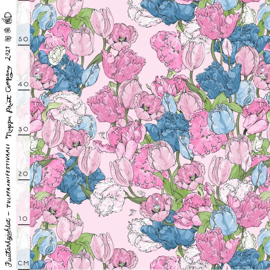 Tulppaanifestivaali luomutrikoo, pinkki
