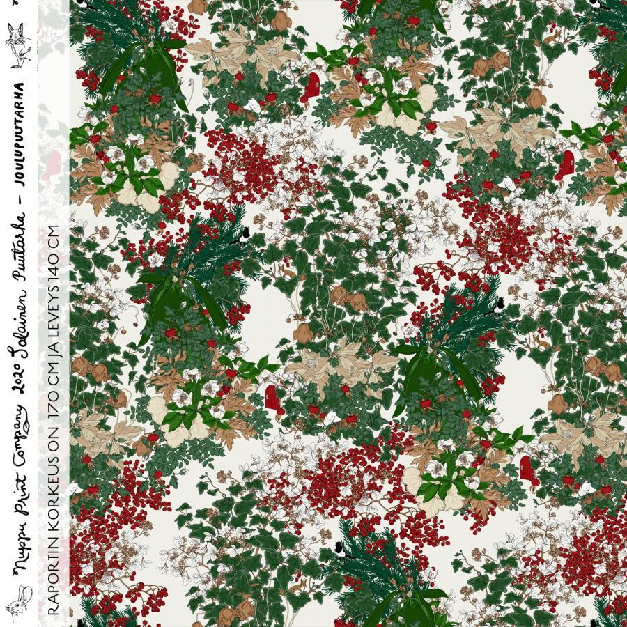 Joulupuutarha iso luomutrikoo, beige